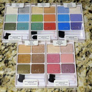 x5 Wet n Wild ColorIcon Eyeshadow Palette Lot